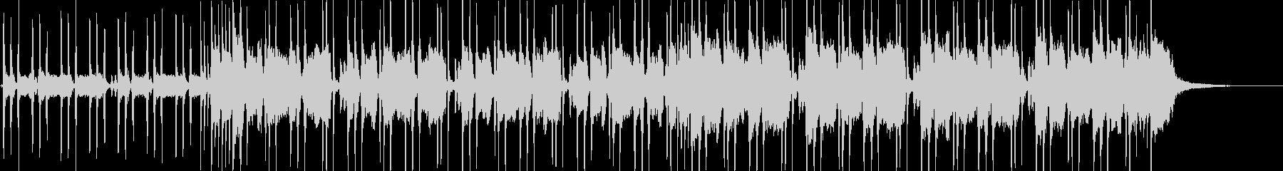 ロックギター、リフが繰り返されるBGMの未再生の波形