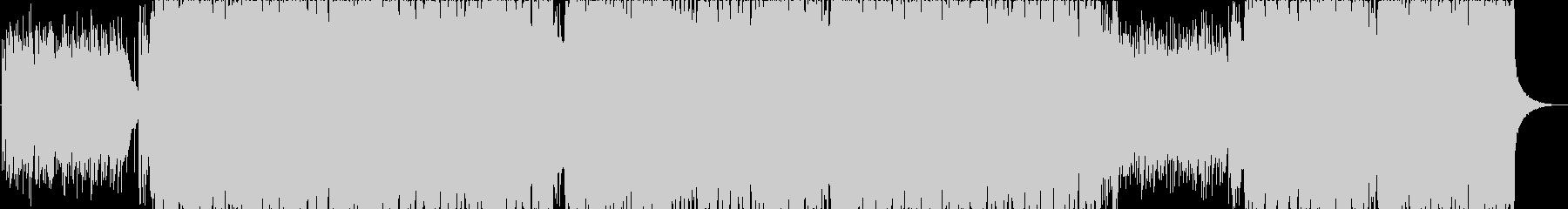 夕焼けをイメージしたピアノメインのBGMの未再生の波形