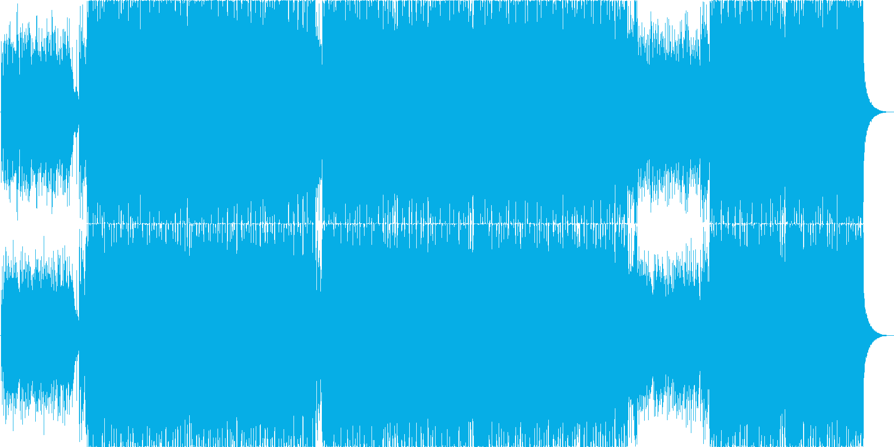 夕焼けをイメージしたピアノメインのBGMの再生済みの波形
