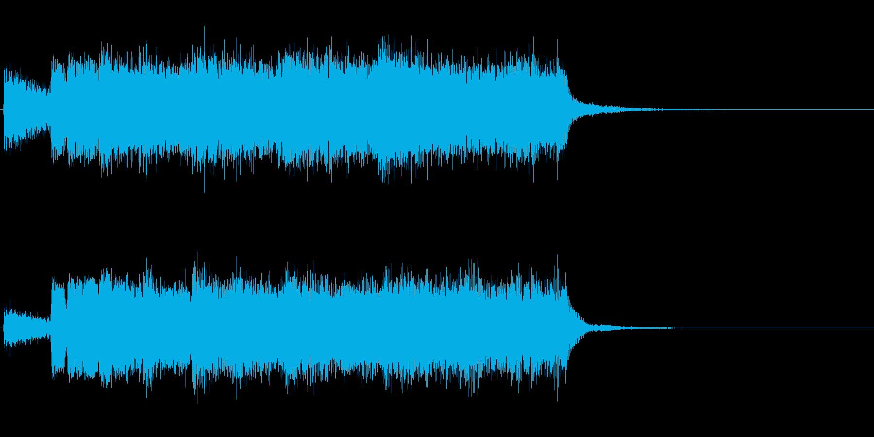 緊張感のあるファンファーレですの再生済みの波形
