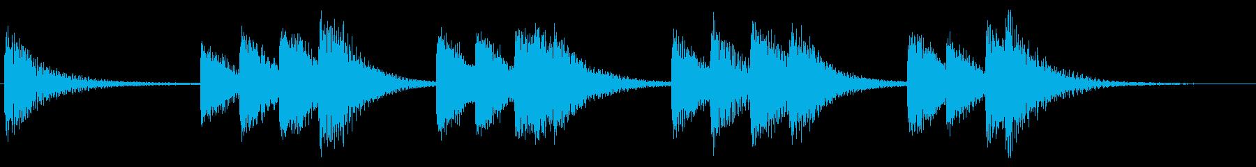 さわやかな放送お知らせチャイムの再生済みの波形