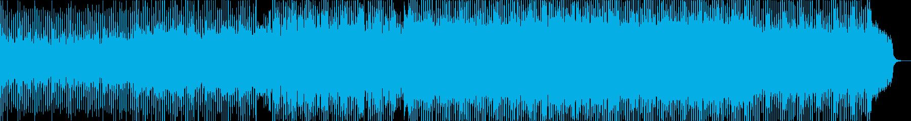 躍動感のある弾むようなシンセの曲の再生済みの波形