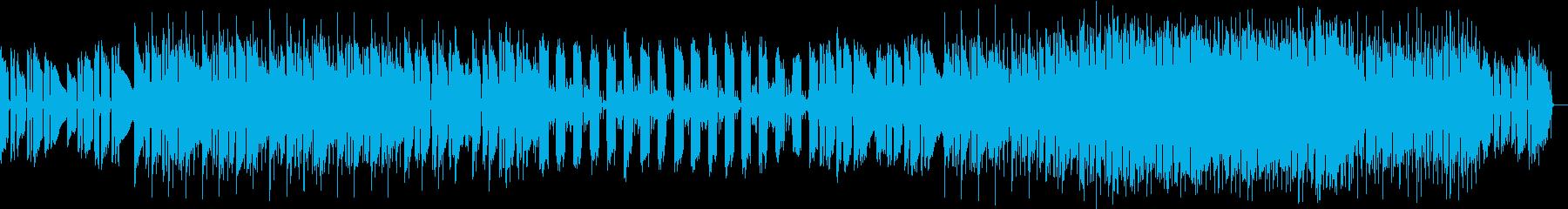 キラキラ系のBGMの再生済みの波形