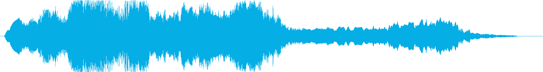 Powerful and simple violin solo's reproduced waveform