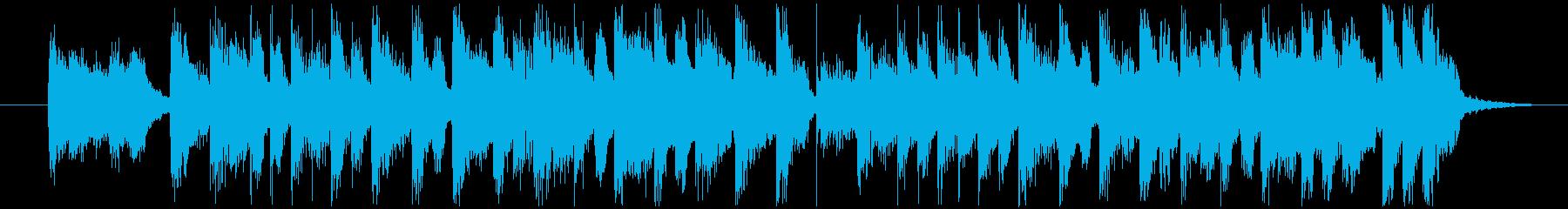 ウキウキ楽しい11秒のジングルの再生済みの波形