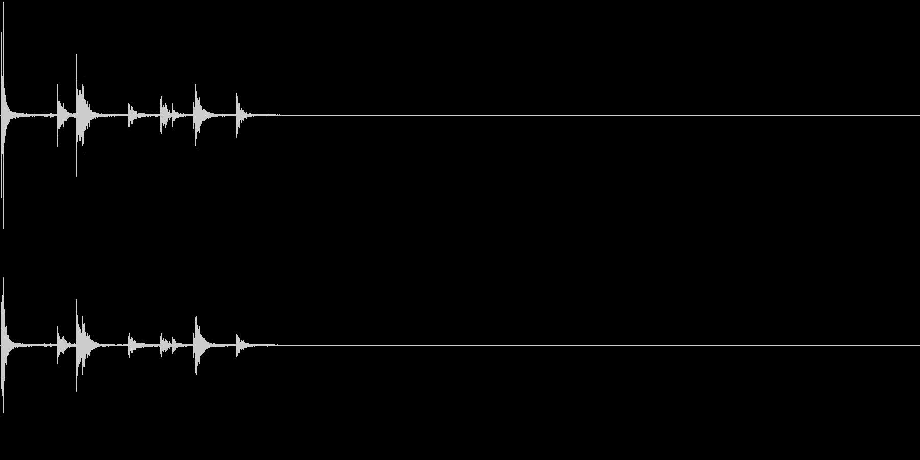 【生録音】手錠の音 カチャカチャ 3の未再生の波形