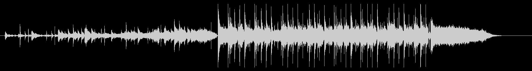 ピアノとシンセサイザーのワンダーランドの未再生の波形