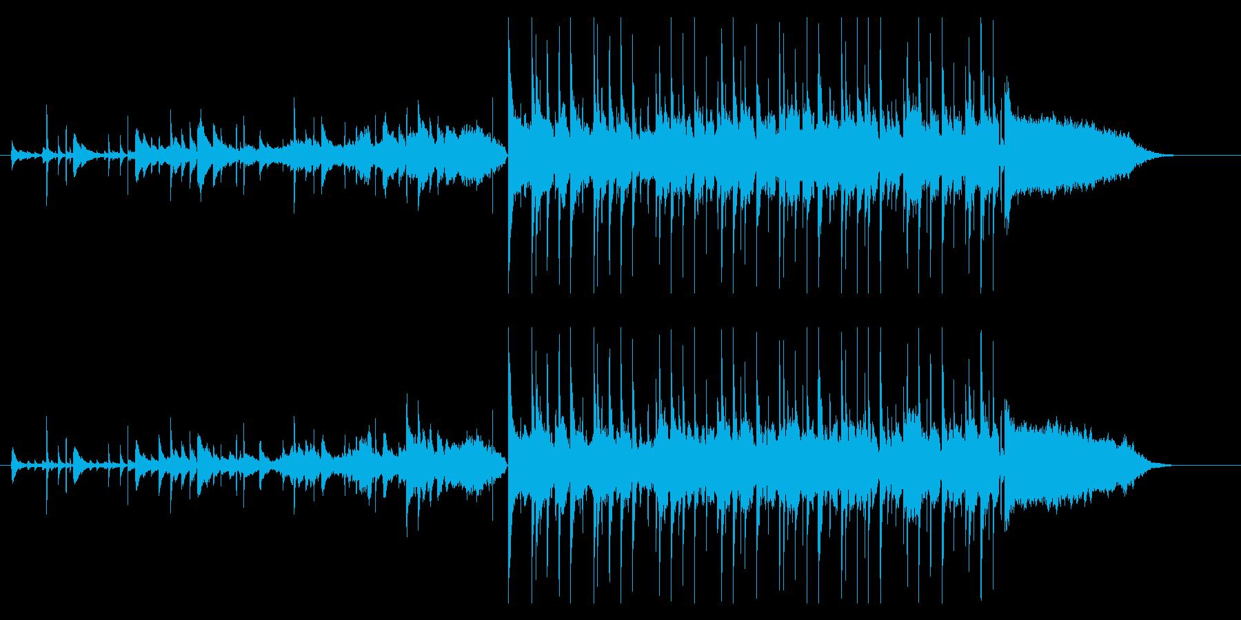 ピアノとシンセサイザーのワンダーランドの再生済みの波形