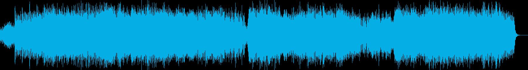 混乱の時代を描いたダークで激しいテクノの再生済みの波形