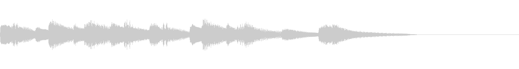 場面転換チャプター転換にピアノジングルの未再生の波形