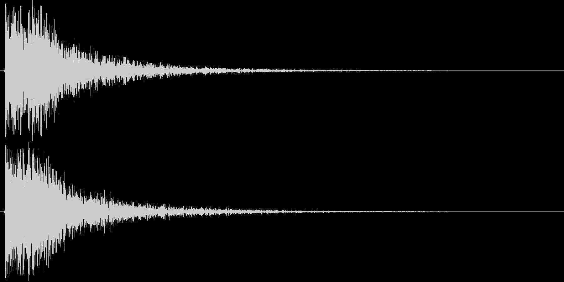ドドン+カカッ(和風、決定音)の未再生の波形