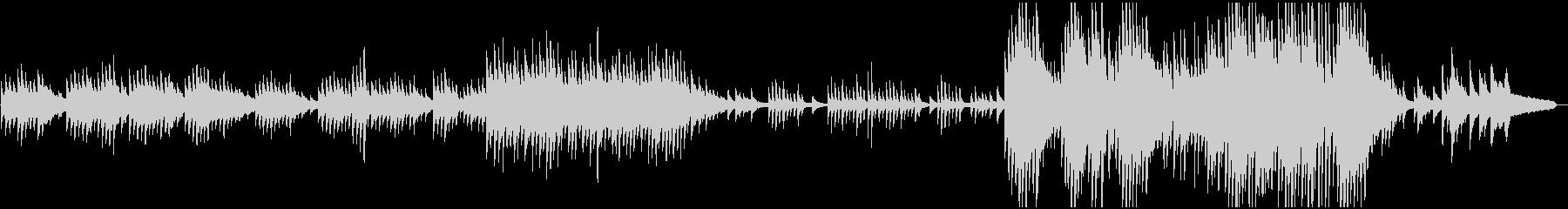 ピアノソロ:癒し系、エンディングの未再生の波形