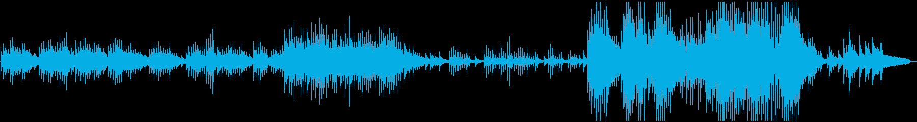 ピアノソロ:癒し系、エンディングの再生済みの波形