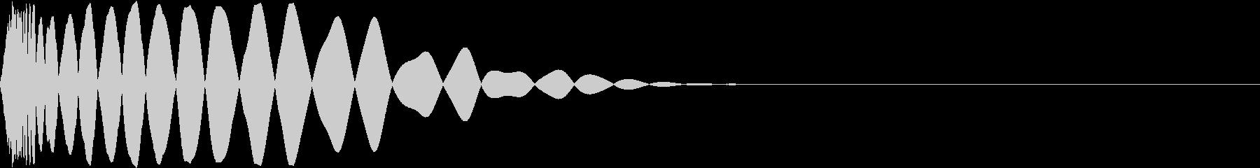DTM Kick 76 オリジナル音源の未再生の波形
