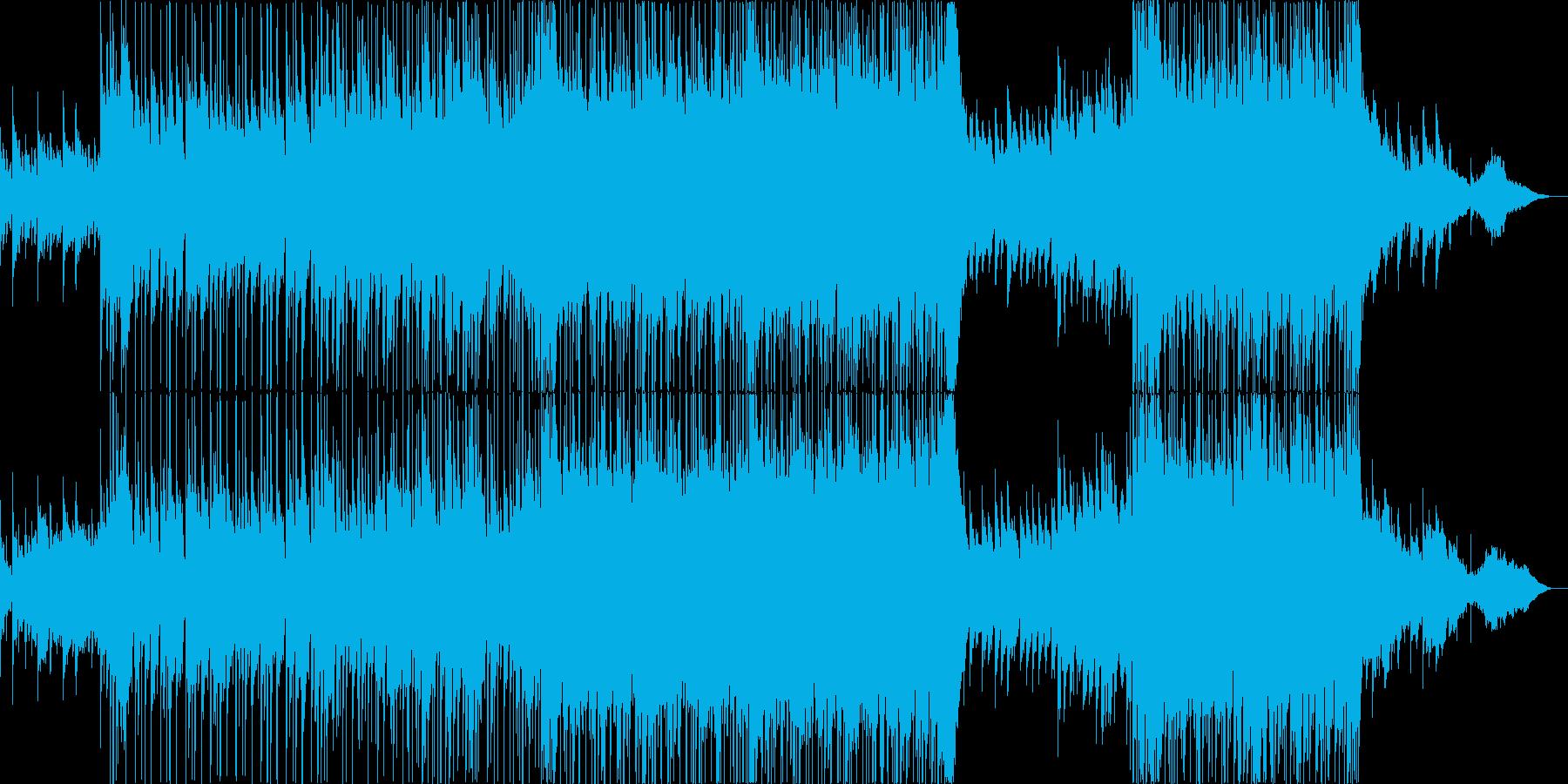 バラード調のポップス、アニソンの再生済みの波形