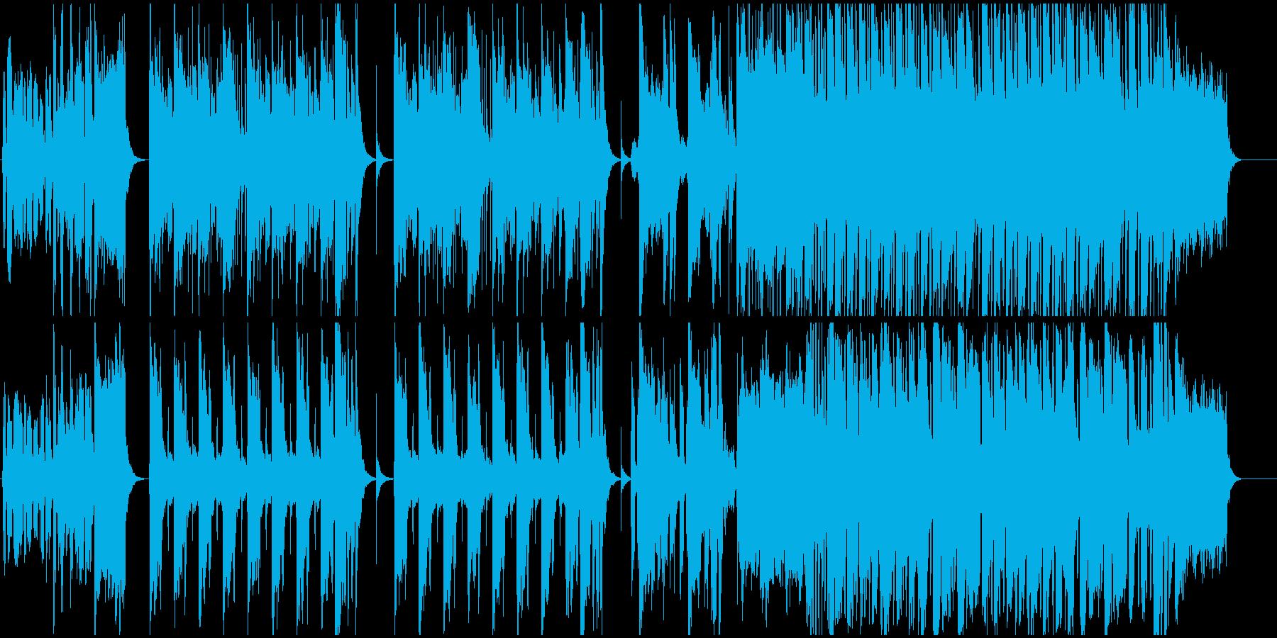 スリリングで緊迫した雰囲気のジャズの再生済みの波形