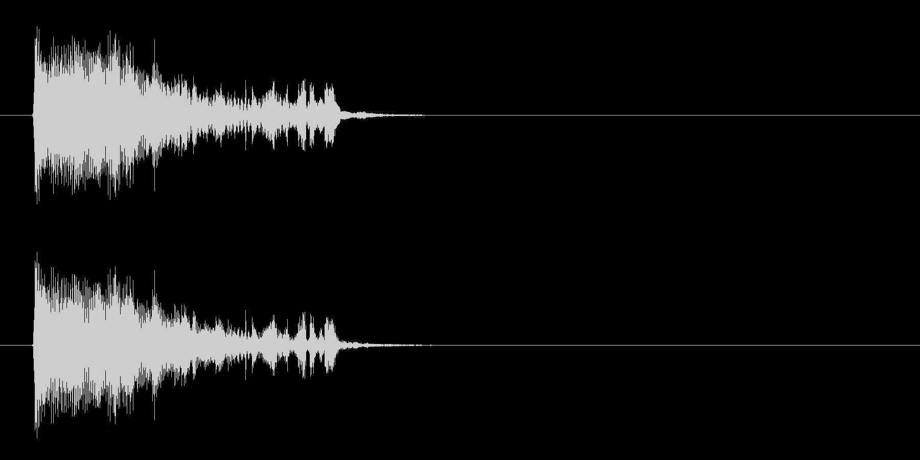 何かが厳かに始まるようなシンセ曲の未再生の波形