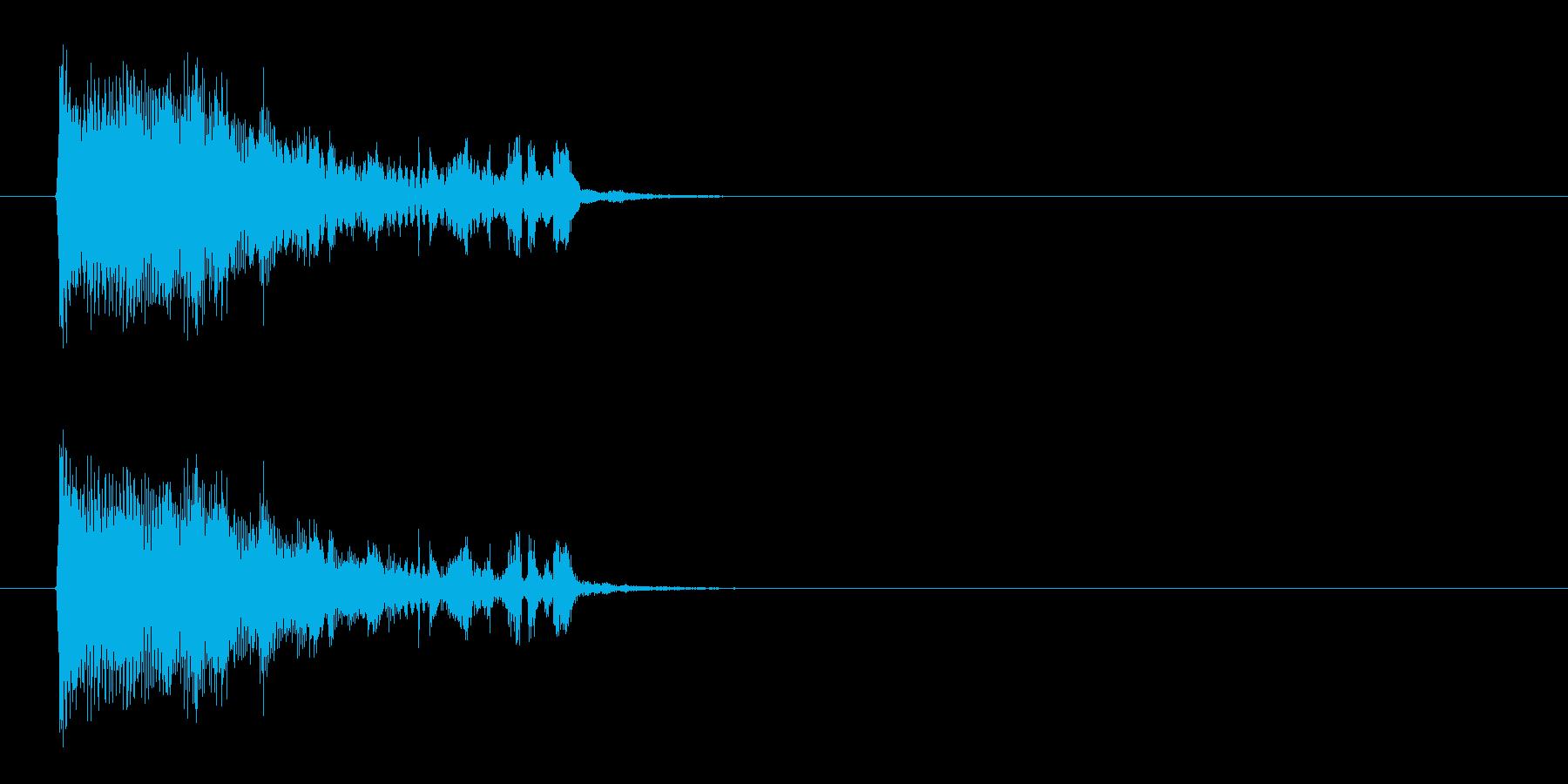 何かが厳かに始まるようなシンセ曲の再生済みの波形
