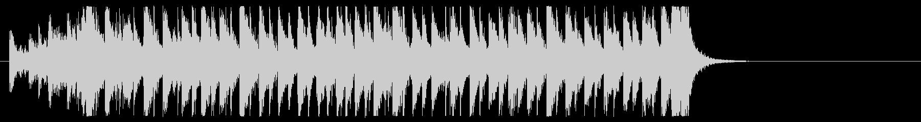 三味線と太鼓のアンサンブルの未再生の波形