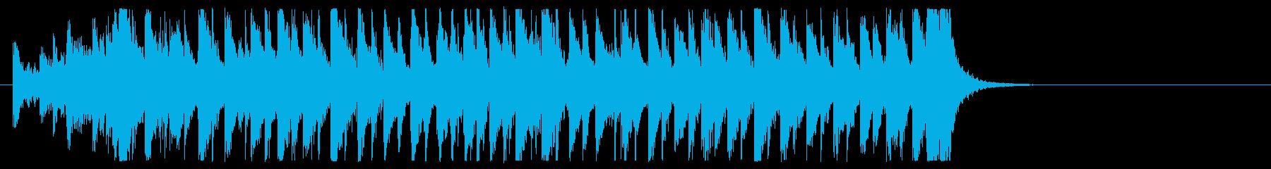 三味線と太鼓のアンサンブルの再生済みの波形