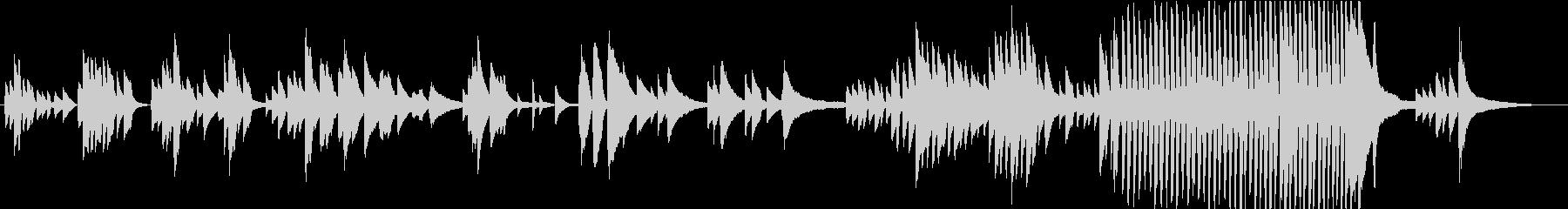 フリーテンポで即興要素のあるピアノ曲の未再生の波形