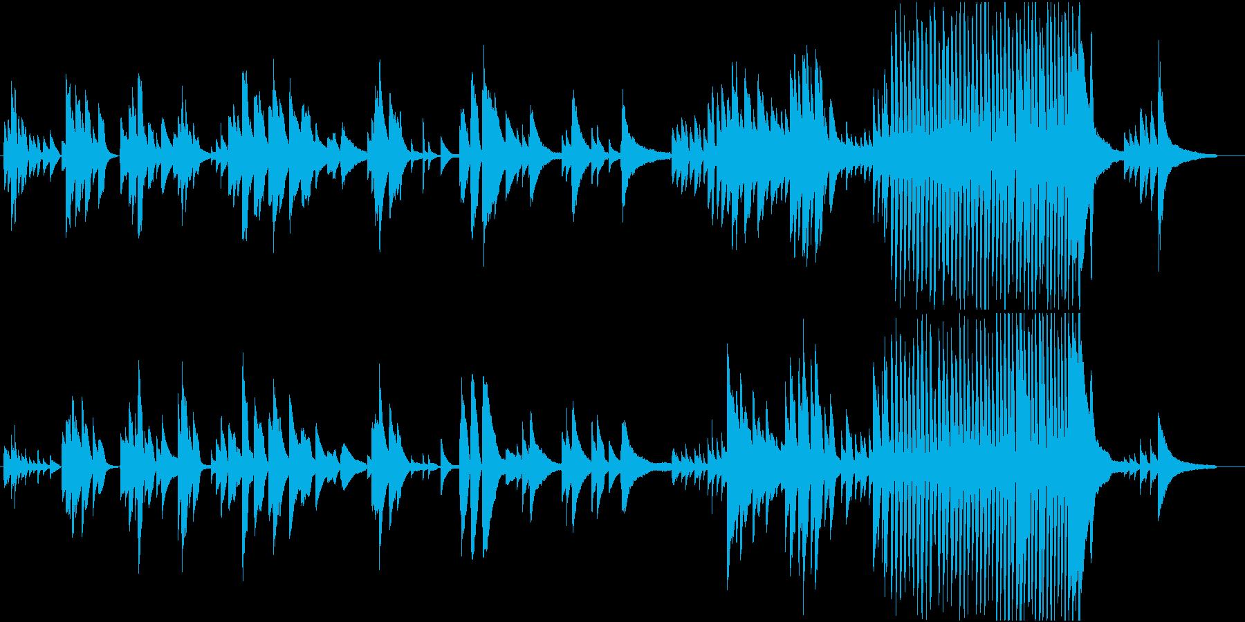 フリーテンポで即興要素のあるピアノ曲の再生済みの波形