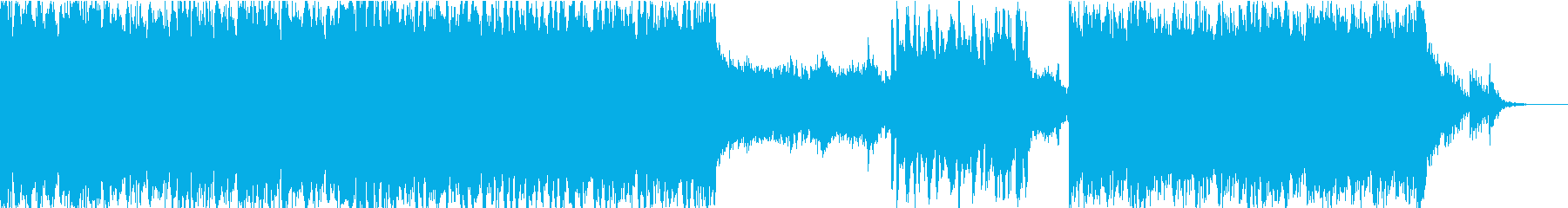 ボカロ系の清涼感のある近未来サウンドの再生済みの波形