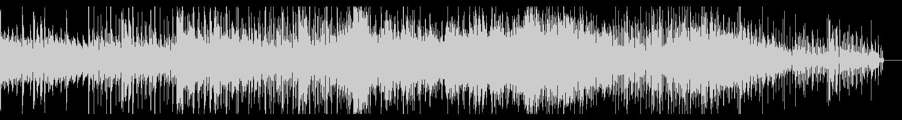 デジタルでホラーなシネマティックBGMの未再生の波形
