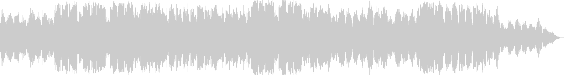 シンセサイザーとケーナの静かな即興音楽の未再生の波形