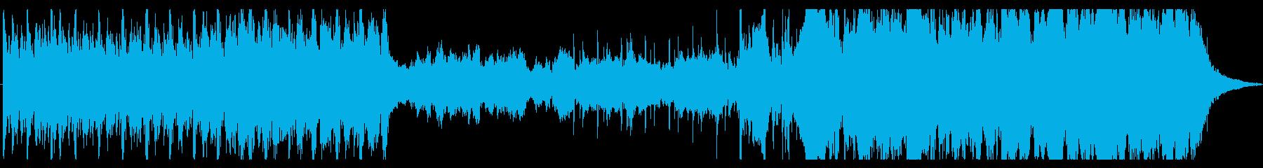 大河ドラマ風の勇壮なオーケストラ曲の再生済みの波形