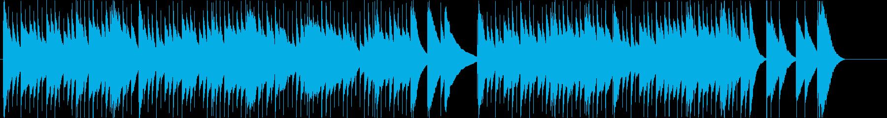 ノスタルジックなオルゴールの再生済みの波形