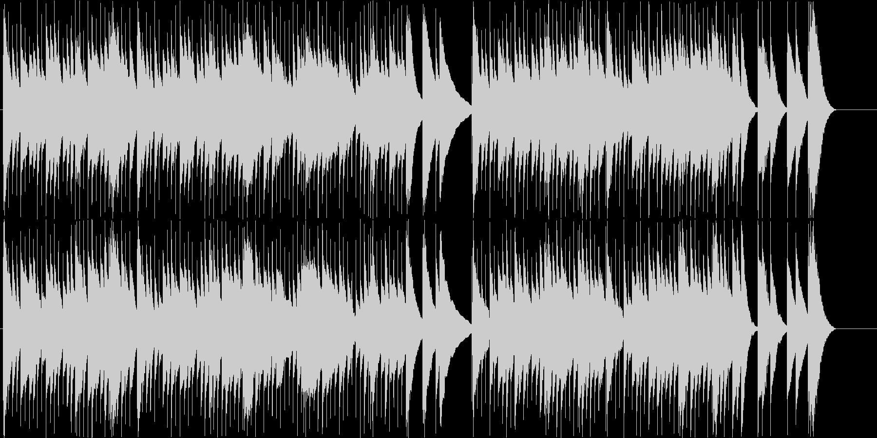 ノスタルジックなオルゴールの未再生の波形