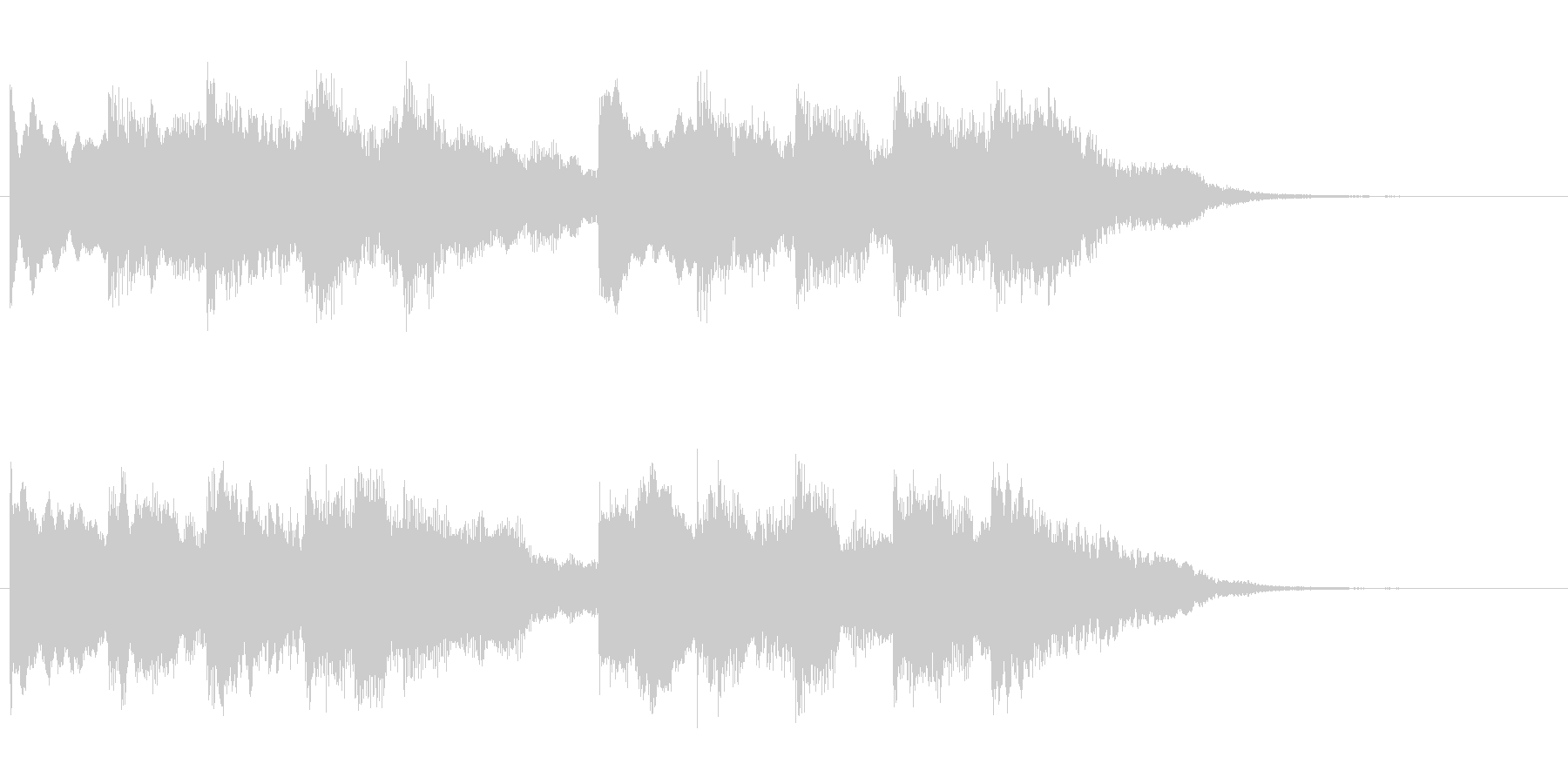 チャイム 4の未再生の波形