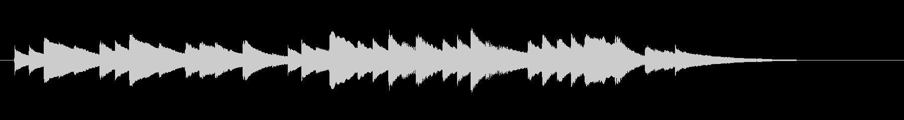 ブラームスの子守唄オルゴール(前半のみ)の未再生の波形