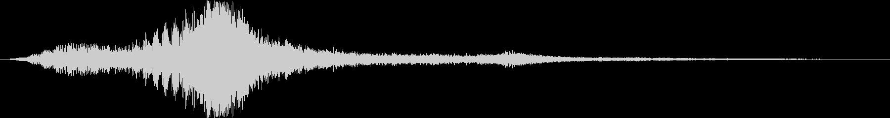映画のタイトルロゴ(ダーク・SFホラー)の未再生の波形