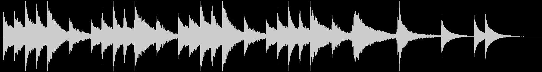 琴の不気味なBGMの未再生の波形