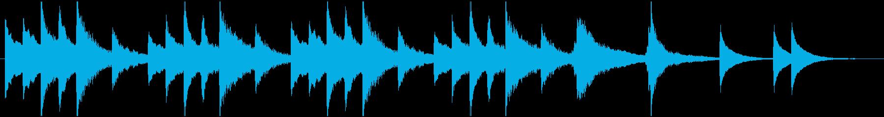 琴の不気味なBGMの再生済みの波形