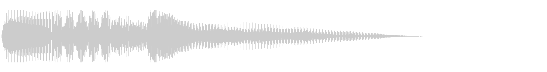 温もりのあるストリングスによる場面転換音の未再生の波形