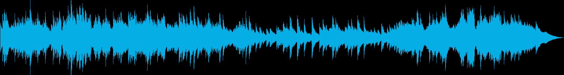 緊張感のあるピアノ曲の再生済みの波形