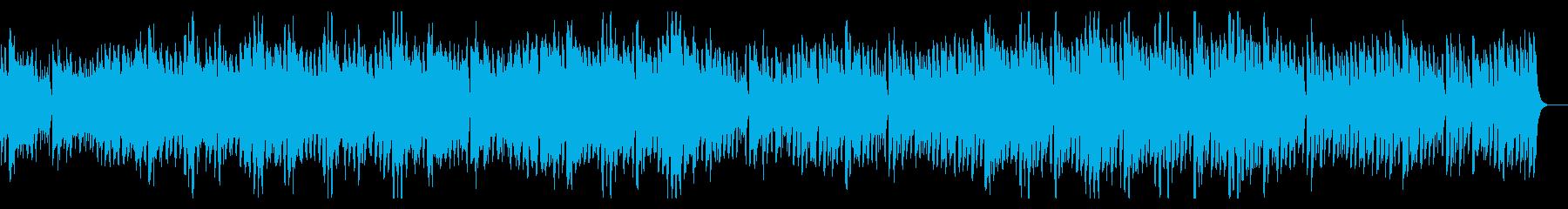 ウクレレと口笛のポジティブでハッピーな曲の再生済みの波形