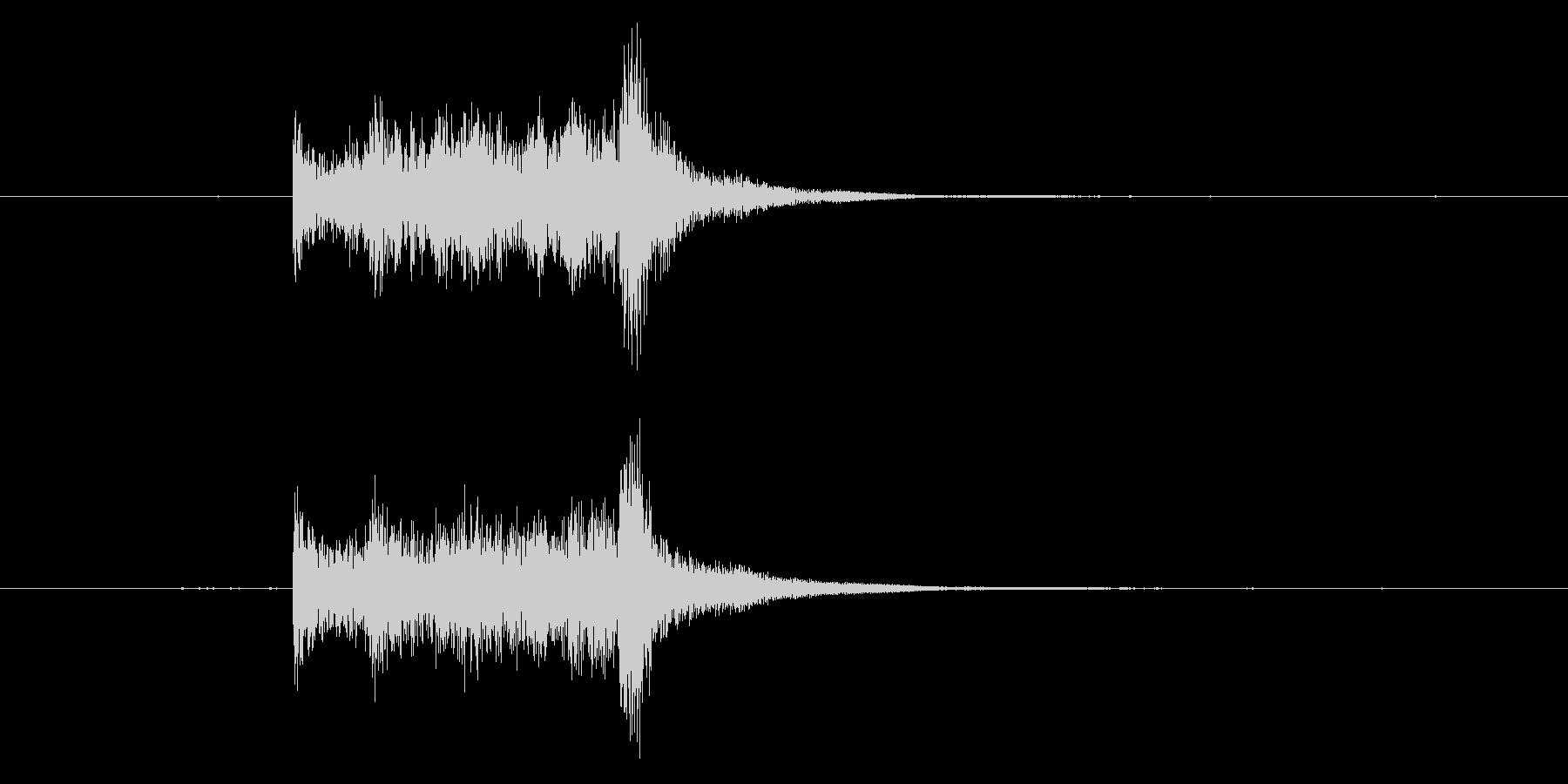 剣がこすれる音3の未再生の波形