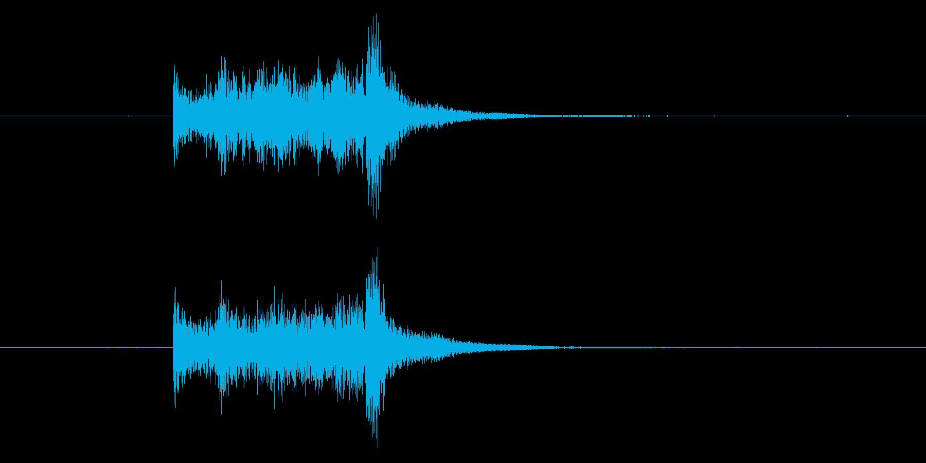 剣がこすれる音3の再生済みの波形