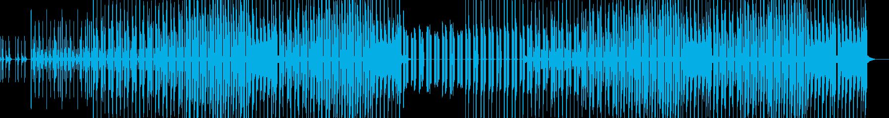 おちゃらけた雰囲気のシンプルなグルーヴの再生済みの波形