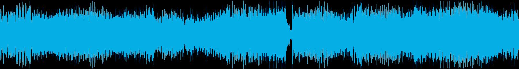 スピード感のある戦闘曲(ループ)の再生済みの波形