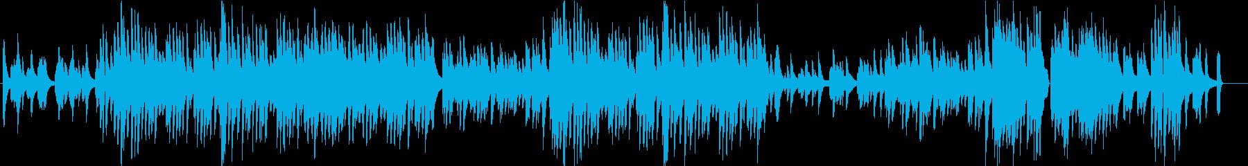 怪しくおしゃれなピアノソロBGMの再生済みの波形