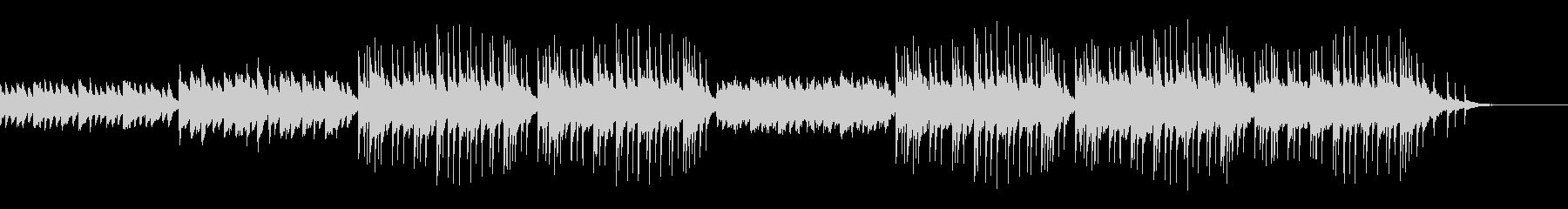 和テイストのBGMの未再生の波形