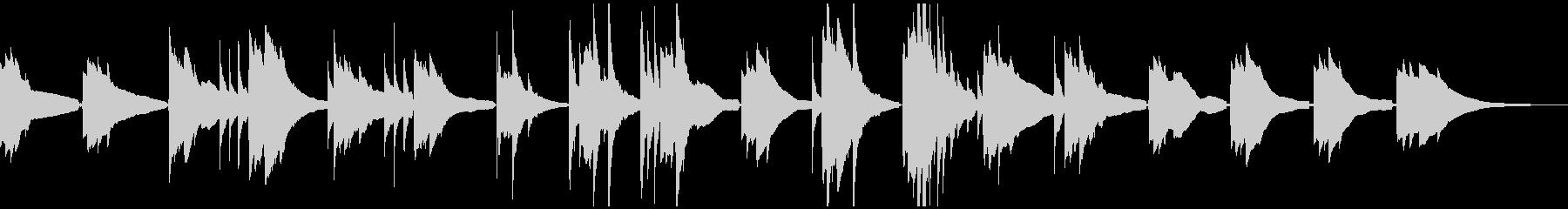 スローテンポなアコースティックギターソロの未再生の波形