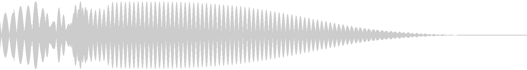 Puong (a gentle sound without a round treogle)'s unreproduced waveform