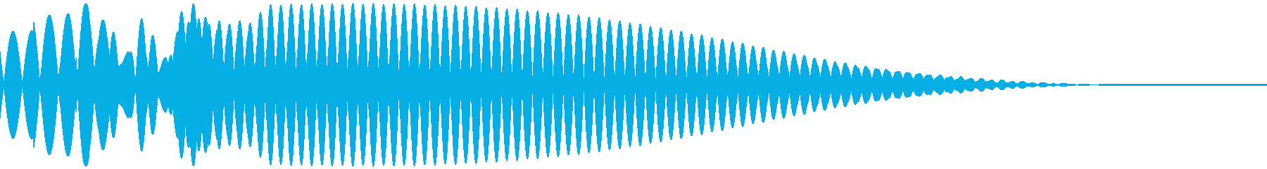 Puong (a gentle sound without a round treogle)'s reproduced waveform