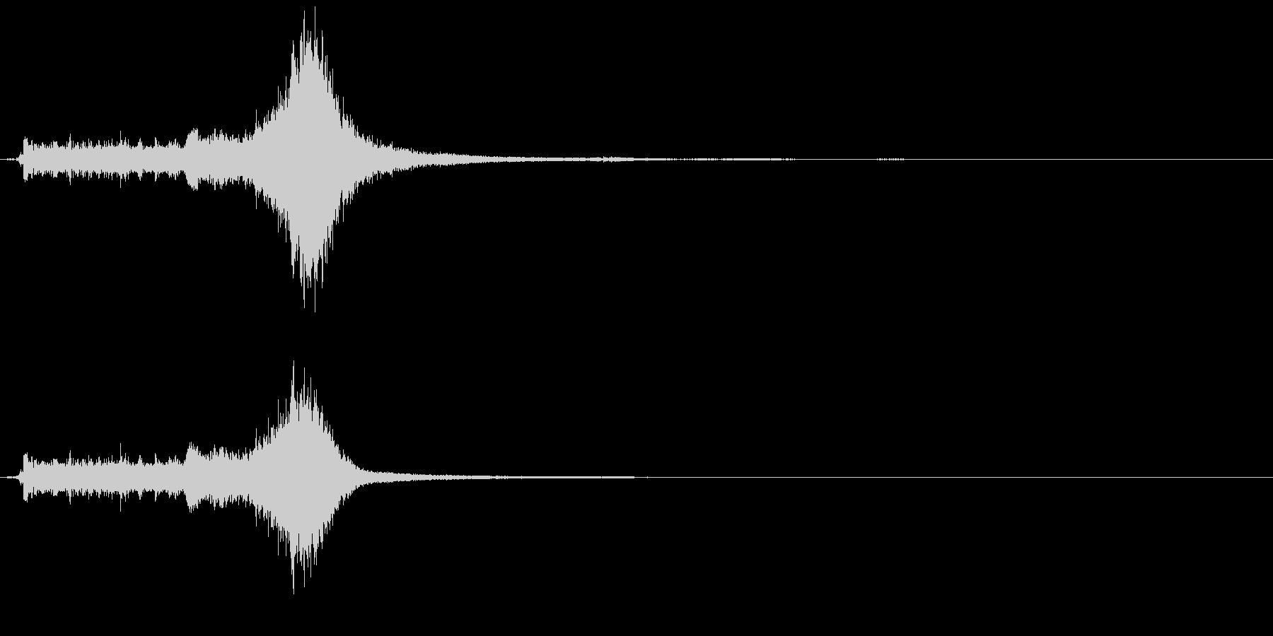 スノーモービルの開始と離陸の未再生の波形